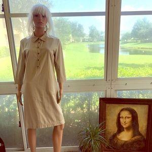 Lovely Talbots Khaki Collared Dress